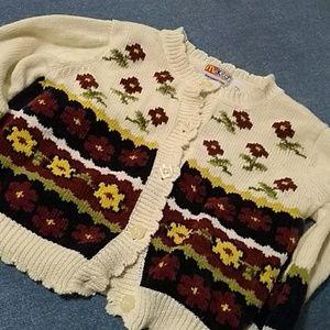 McKids Cream Cardigan Dark Floral Girls' 24 Mo
